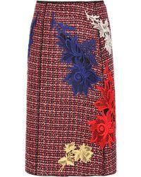 Marc Jacobs - Embellished Tweed Skirt - Lyst