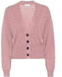 Brunello Cucinelli Cardigan cropped in cashmere - Rosa