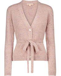 Brock Collection Samira Cashmere Wrap Cardigan - Pink