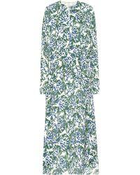 Victoria, Victoria Beckham Printed Crêpe Midi Dress - Green