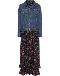 Junya Watanabe Denim Jacket Wool Dress - Blue
