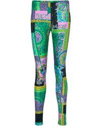 Versace - Barocco Printed leggings - Lyst