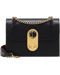 Christian Louboutin Elisa Large Shoulder Bag - Black