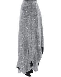 AMI Sequined Midi Skirt - Metallic
