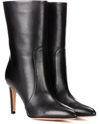 Gianvito Rossi - Dana Leather Ankle Boots - Lyst