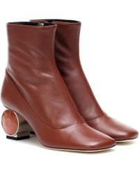 Loewe Ornament Ankle Boots - Brown