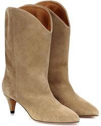 Isabel Marant Dernee Suede Ankle Boots - Natural