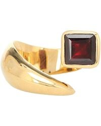 ALAN CROCETTI Alien Gold-vermeil Ring With Garnet - Metallic
