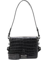 Off-White c/o Virgil Abloh - Binder Clip Embossed Leather Shoulder Bag - Lyst