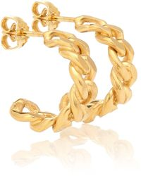 Elhanati Rita Hoop Petite 24kt Gold-plated Earrings - Metallic
