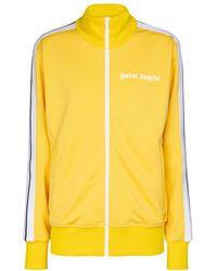 Palm Angels Bedruckte Trainingsjacke - Gelb