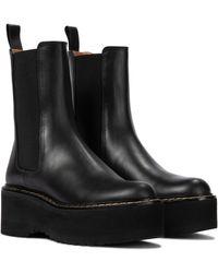 Paris Texas Chelsea Boots aus Leder - Schwarz