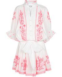 Juliet Dunn Exclusive To Mytheresa – V-neck Belted Minidress - Pink