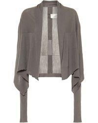 Rick Owens Asymmetric Wool Cardigan - Gray