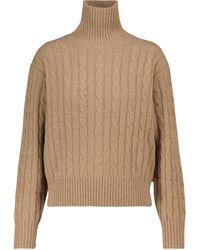 Polo Ralph Lauren Dolcevita in lana e cashmere a trecce - Neutro