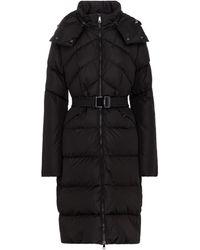 Moncler Manteau doudoune à capuche - Noir