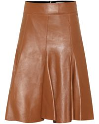 Dorothee Schumacher Exclusive To Mytheresa – Modern Volumes Leather Midi Skirt - Brown