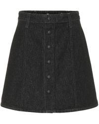 AG Jeans Kety Denim Miniskirt - Black