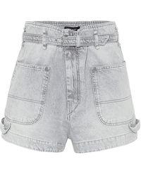 Isabel Marant Shorts di jeans Kike - Grigio