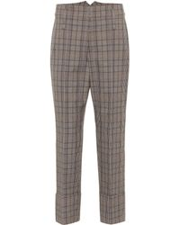 Brunello Cucinelli Hose aus Wolle und Baumwolle - Grau