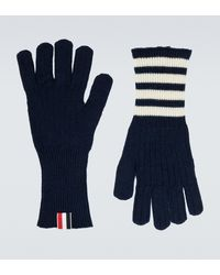 Thom Browne Cashmere Gloves - Blue