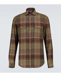Ralph Lauren Purple Label Checked Flannel Shirt - Multicolor