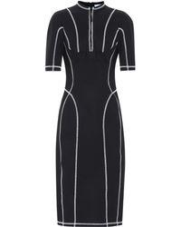 Mugler Scuba Midi Dress - Black