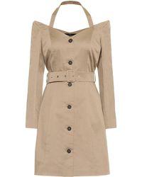 ROKH - Cotton-twill Minidress - Lyst