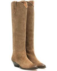 Isabel Marant Denvee Suede Boots - Brown