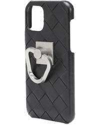 Bottega Veneta Intrecciato Leather Iphone 11 Pro Case - Black