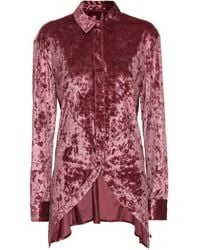 Y. Project Velvet Blouse - Red