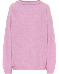 Acne Studios Oversized Sweater - Pink