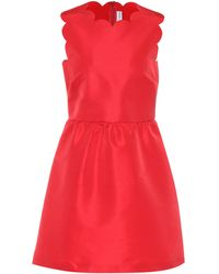 RED Valentino Scalloped Satin Dress - Red