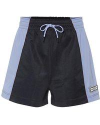 Ganni Shorts in piqué - Blu