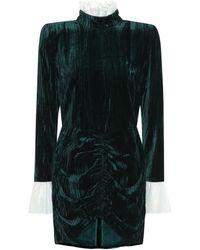 ROTATE BIRGER CHRISTENSEN Miki Velvet Minidress - Green