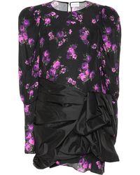 Magda Butrym Floral-print Sash Dress - Black