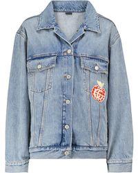 Gucci Les Pommes Denim Jacket - Blue