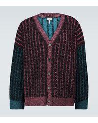 Loewe Oversized Knitted Cardigan - Multicolour