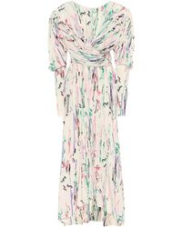 Isabel Marant Robe midi Filao imprimée en soie mélangée - Multicolore