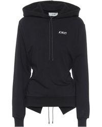 Kirin Open-back Cotton Hoodie - Black