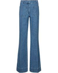 Victoria Beckham High-rise Flared Jeans - Blue