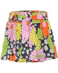 Dodo Bar Or Floral Cotton Miniskirt - Multicolour