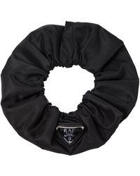 Prada Verzierter Scrunchie aus Nylon - Schwarz