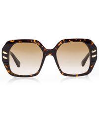 Stella McCartney Oversize-Sonnenbrille - Braun