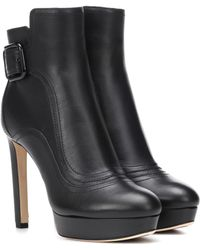 Jimmy Choo Britney 115 Leather Ankle Boots - Black