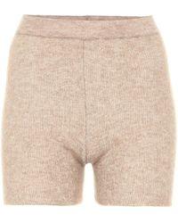 Jacquemus Le Short Arancia Ribbed-knit Shorts - Natural