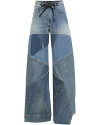 Tom Ford Patchwork High-rise Wide-leg Jeans - Blue
