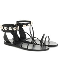 Ancient Greek Sandals Exclusive To Mytheresa – Meloivia Leather Sandals - Black