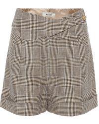 Blazé Milano Basque Linen And Wool Shorts - Multicolour