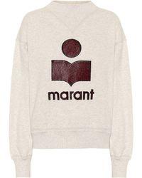 Étoile Isabel Marant Moby Cotton-blend Sweatshirt - Grey
